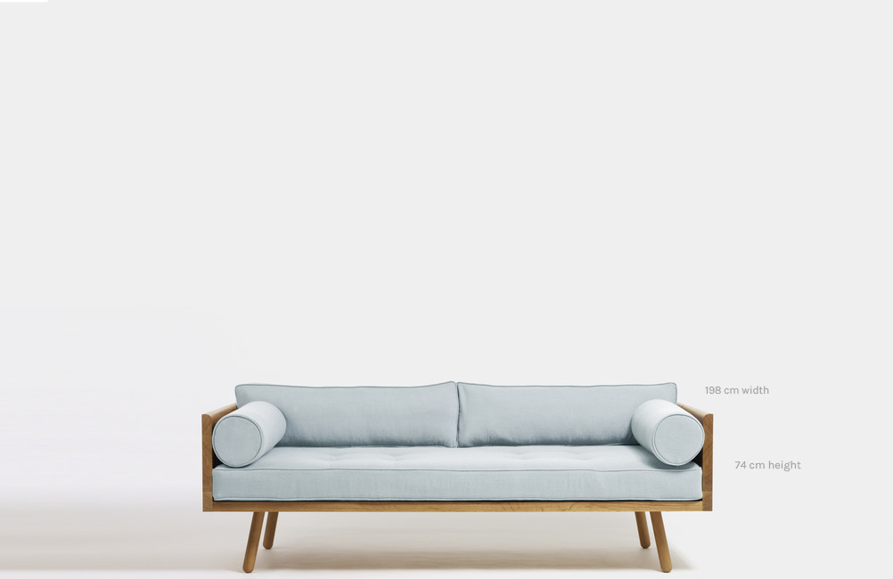 Blue Sofa / Grey Wall